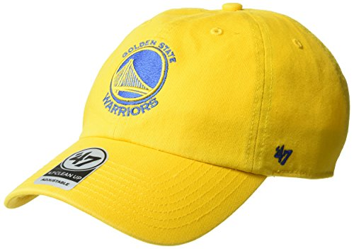 NBA Golden State Warriors Adult NBA '47 Clean Up Adjustable Hat, One Size, Yellow Gold