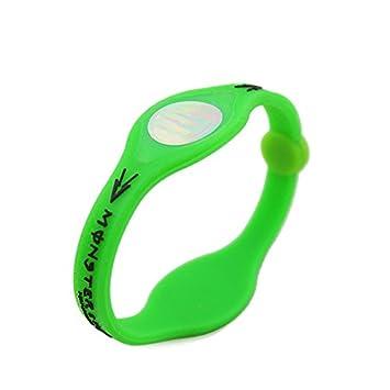 Hengda/® Wei/ß S-Code Power Energy Armband Hologramm Sport Balance Wellness