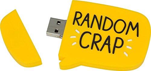 Gigabyte Usb (Happy Jackson Random Crap GB USB 2.0 Flash Drive, Yellow (PC DVD))