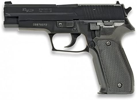 Pistola Sig Sauer P226 plastico Aire Suave 6mm Potencia 0,50 Julios Airsoft Replica Paintball Caza Supervivencia tactico Senderismo Camping Outdoor Albainox 38250 + Portabotellas de regalo