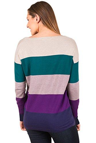 Neuf Vert Violet Colour-block Poche Pull Chemisier de soirée pour femme Tenue décontractée d'été Taille UK 8EU 36