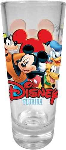 Best Buds Mickey Goofy Donald Pluto Collector Glass Florida Shotglass Shot Glass