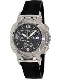 Tissot T-Race Chronograph Black Rubber Strap Ladies Watch T0482171705700