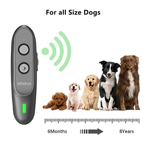 armous Anti Barking Device Ultrasonic Dog Barking Deterrent Devices 3 in 1 Bark Control Training of Safe to Use with LED Indicator and Wrist Strap
