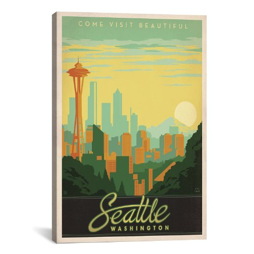 iCanvasART Seattle Washington by Anderson Design Group Canvas Art Print, 26 by (Anderson Art Print)