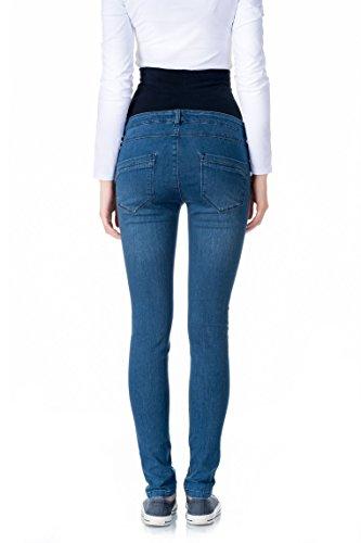 Bellybutton Jeans Slim Mit Überbauchbund-0007550, Vaqueros Premamá para Mujer Blau (blue 0013)