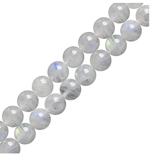 """Top Quality Natural Moonstone Gemstone 10mm Round Loose Beads 15.5"""" (1 strand) #GY30-10"""