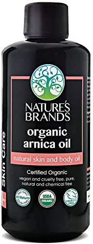 Nature's Brand Mari Organic Arnica Oil For Pain Relief, Arthritis, Back Muscle, Shoulder, Neck, Knee, Elbow, Neuropathy, Nerves, Massager, Relieves Inflammation 3.4 oz