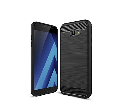 Funda Samsung Galaxy A7(2017),Alta Calidad Ultra Slim Anti-Rasguño y Resistente Huellas Dactilares Totalmente Protectora Caso de Cover Material de fibra de carbono TPU Adecuado para el Galaxy A7(2017) A