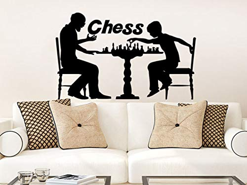 (PotteLove Wall Decal Chess Players Pieces Strategy Board Game Vinyl Sticker Decals 22 Inches)
