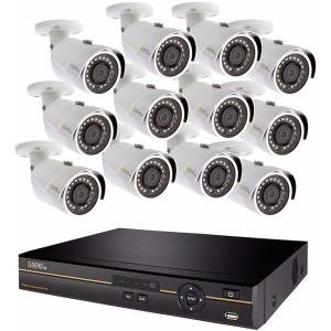 Q-See QC9616-12DX-2 | Surveillance System with 16 Channel HD Analog DVR with 2TB Hard Drive | Includes 12 4MP Security Cameras | Compatible with 4K TV | Weather Resistant | Night Vision (Camera Digital Q-see Channel 4)
