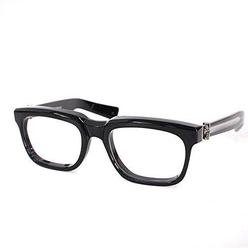 (クロムハーツ) Chrome Hearts 【SEE YOU IN TEA】BSフレアテンプルアイウェア眼鏡(53□20/ブラック×シルバー) 中古 B07FFQFLGJ  -