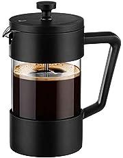 Cuasting Franse pers koffie- en theefaciliteiten 12 oz, verdikte borosilicaatglas koffiepers roestvrij en vaatwasmachinebestendig, zwart