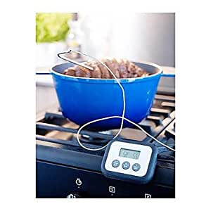 Weiyuan Meat Thermometer Timer Digital Black ABS plastic,9X9X7CM
