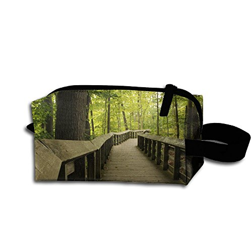 (Ohio Wooden Surface Path Oak Trees Walkway Pencil Cases Travel Case Cosmetic Bag Toiletries Organizer Bags)