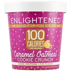 Low Fat Oatmeal Cookies - Enlightened - The Good For You Ice Cream, High Protein-Low Sugar-High Fiber-Low Fat, Caramel Oatmeal Cookie Crunch Ice Cream, Pint (4 Count)