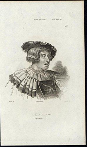 ferdinand-i-holy-roman-emperor-king-of-bohemia-1838-antique-engraved-print