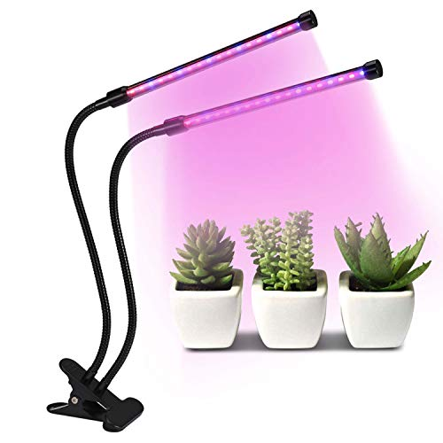 18W Dual Head Timing 36 LED Grow Lights for Indoor Plants with Red/Blue Spectrum