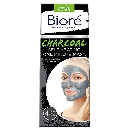 Bioré Charcoal Self-Heating One Minute Mask (4 Count)
