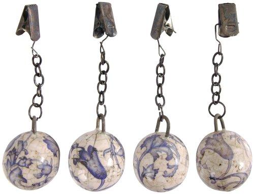 (Esschert Design USA Aged Ceramic Tablecloth Weights, Set of)