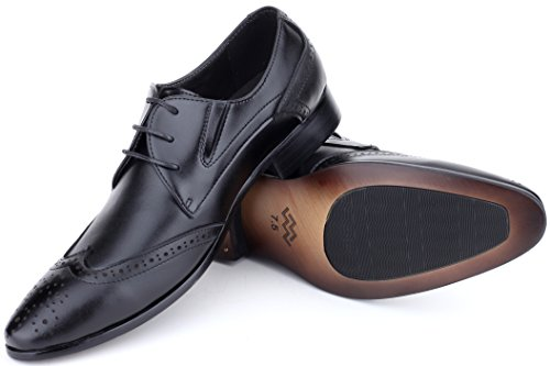 Wingtip in Wingtip Leather Men Mens Marino Shoes Shoes Shoe For Oxford Loafers Monk Mio Bag Black nbsp;Strap Dress a UBXwXO
