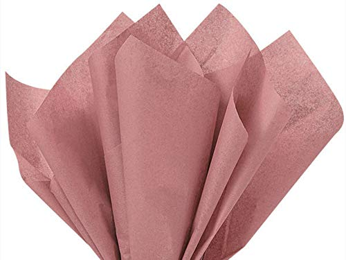 (Antique Rose Pink Tissue Paper 20 inches x 30 inches - 48 X-Large Sheets by Buttons Bags and Bows)