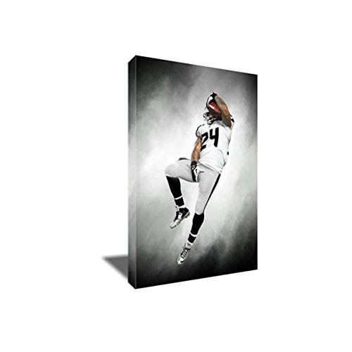 (MARSHAWN LYNCH Beast MODE TD Painting Poster Artwork on CANVAS ART Print (16x24 inches))