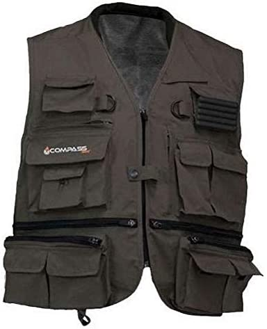 COMPASS HT73178-85-SM Hells Gate Dry Vest Small Stone