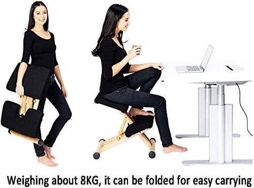 HUXIUPING Chaise De BH Ergonomique, Tabouret Réglable for La Maison Et Le Bureau Qui Soulage Le Dos Et La Douleur Au Cou, L'amélioration De La Posture, Gris