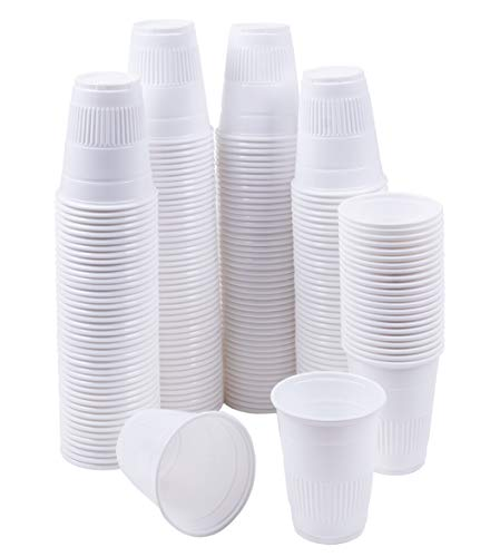 TashiBox 5 oz Disposable Plastic Cups - 200 Count - Drinking Cups, Bath Cups, Dental Cups. -