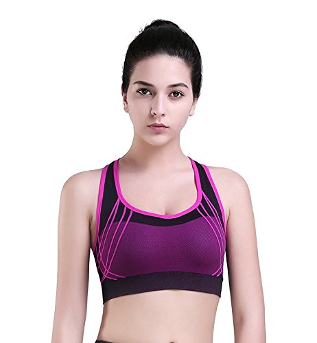New ProductWomen Seamless Wire Free Racerback Workout Yoga Sports Bra by Generic