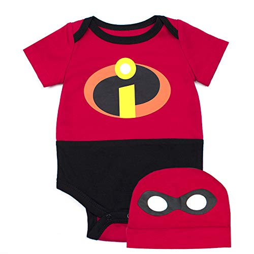 The Incredibles Disney's Pixar Onesie - Infant Boys Incredibles Bodysuit and Hat Set (Red, -
