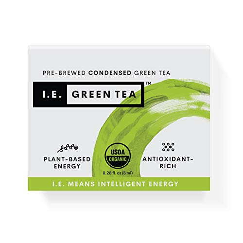 I.E. Green Tea - Caffeinated Pure Green Tea Flavor - 8 Pack Box