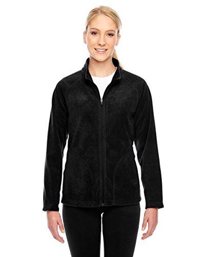 (Team 365 Ladies Campus Microfleece Jacket, Black,)
