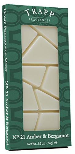 Trapp Candles Home Fragrance Melt, No. 21 Amber & Bergamot, 2.6-Ounce