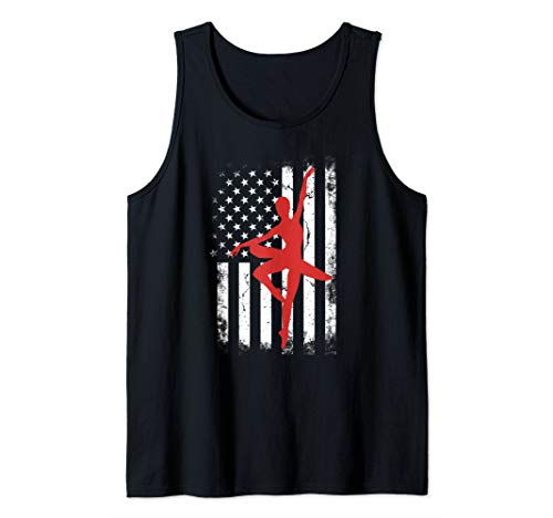 - American Flag Ballet Dancer USA 4th of July cool patriotic Tank Top