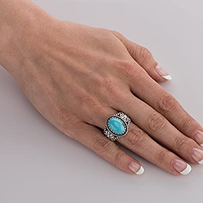 American West Genuine .925 Sterling Silver & Gemstone Ring - Classics Collection