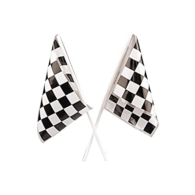 PLASTIC RACING FLAGS (6DZ) - Party Decor - 72 Pieces: Toys & Games