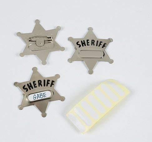 Metal Sheriff Badges (1 dz) -