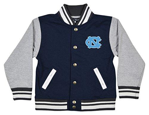 NCAA North Carolina Tar Heels Children Unisex Toddler Letterman Jacket, 4 Toddler, Navy/Oxford