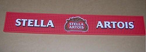 New Free Shipment Red STELLA ARTOIS Rubber beer mat bar mat spill mat bar runner