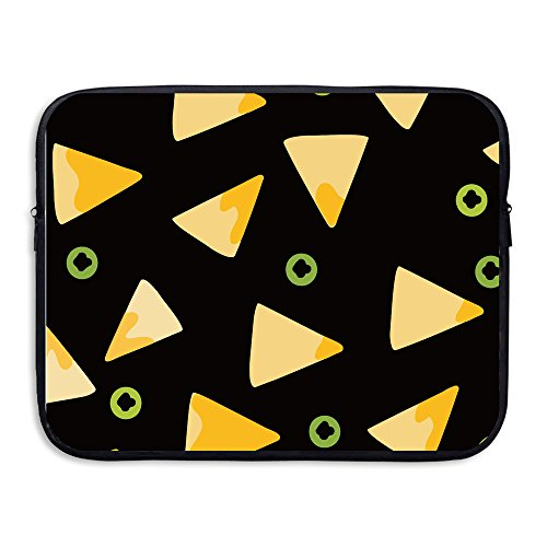 Image result for COMP Nacho Frenzy Neoprene Notebook Computer Laptop Protection Sleeve Bag Black 15 Inch