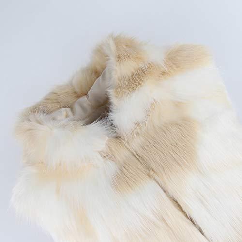 Lafee Bridal Men's Luxury Faux Fur Coat Jacket Winter Warm Long Coats Overwear Outwear Camel XL