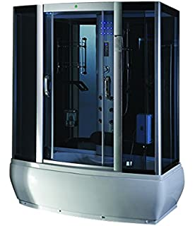 Steam Shower Enclosure Spa Sauna Whirlpool Touch Screen Computer Display  9007WS, Modern Home Design Bath