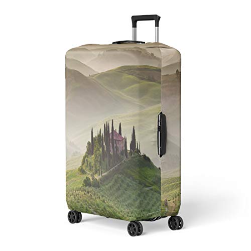 (Pinbeam Luggage Cover Early Morning on Countryside San Quirico D′Orcia Tuscany Travel Suitcase Cover Protector Baggage Case Fits 26-28 inches)