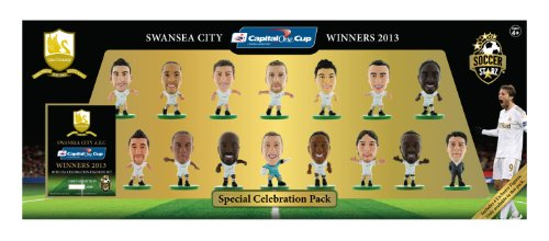 SoccerStarz Swansea City AFC 2013 League Cup Winners Special Celebration Pack