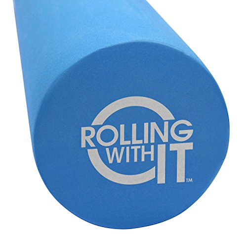 18 Inch Length x 6 Inch Round - Foam Roller - Best Firm High Density Eco-Friendly EVA Foam Rollers for Physical Therapy, Great Back Roller for Muscle Therapy, Mobility & Flexibility ()