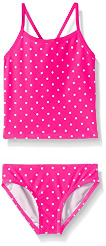 (Kanu Surf Little Girls' Melanie Beach Sport 2-Piece Banded Tankini Swimsuit, Chloe Pink Dot, 6)