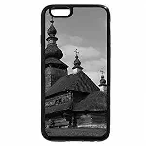 iPhone 6S Case, iPhone 6 Case (Black & White) - Wood Church