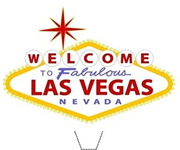 Novelty Welcome To The Fabulous Las Vegas Sign 12 Edible Stand Up Wafer Paper Cake Toppers